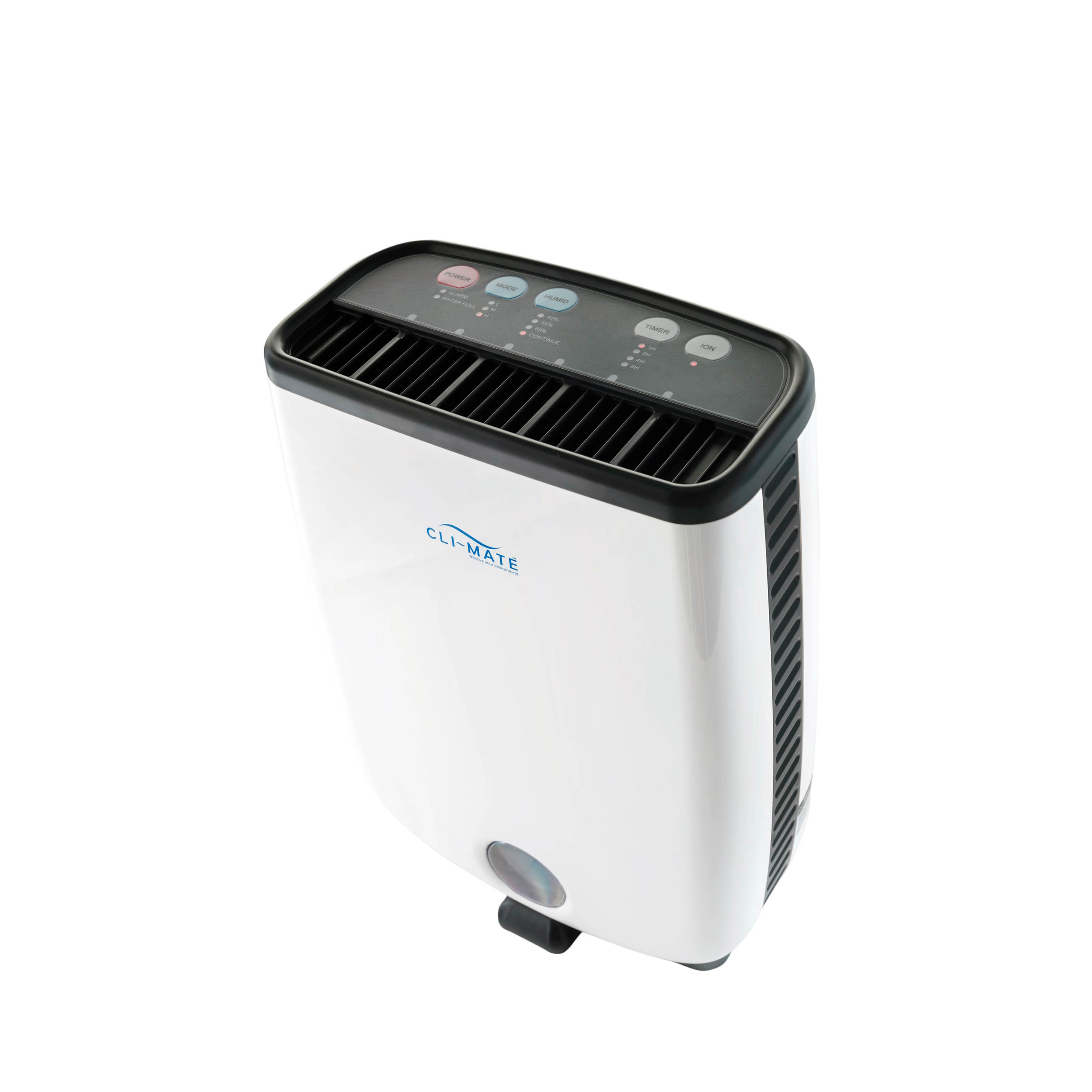 The All Weather Dehumidifier 8L air humidifier in white top view