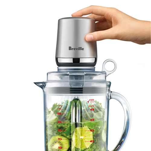 the Vac Q™ Blender in Silver inner cap lid with valve