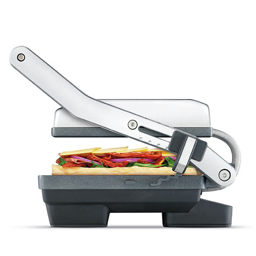 the Toast & Melt™ 2 Slice Sandwich Press grills & sandwich makers in Brushed Stainless Steel height control