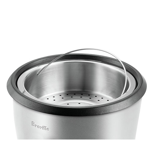 the Multi Grain™ Cooker In Silver steaming functionality