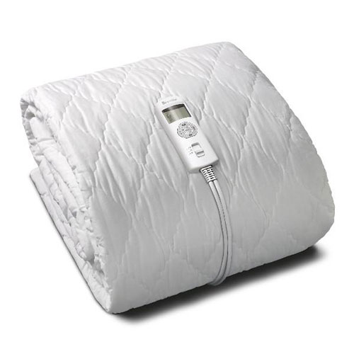 Bodyzone King Single Quilted Fitted Heated Electric Blanket in white better