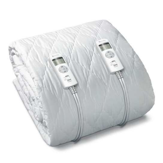BodyZone® Queen Quilted Fitted Heated Blanket White