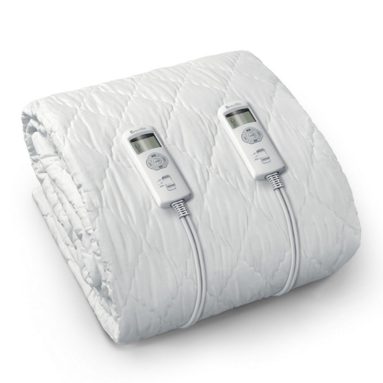 BodyZone Connect™ Queen Quilted Fitted Heated Blanket White