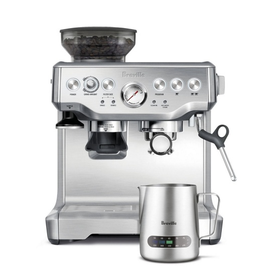 the Barista Express® with Milk Jug Thermal Brushed Stainless Steel