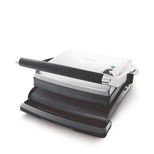 the Adjusta Grill & Press™ Grills & Sandwich Makers in Brushed Stainless Steel float hinged top plate
