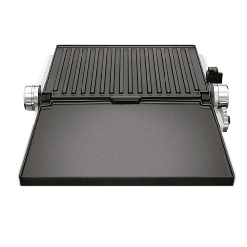 the Smart Grill™ Pro Grills & Sandwich Makers in Silver flat bbq mode