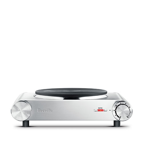 the Handy Hotplate™1 induction & hot plates in brushed stainless steel consistent heat