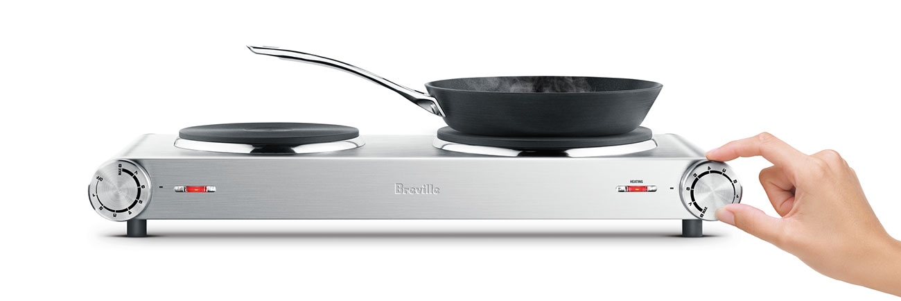 the Handy Hotplate™2 induction & hot plates in brushed stainless steel