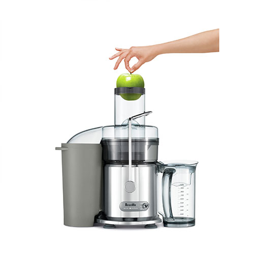 the Juice Fountain® Max Juicers in Silver extra wide feed chute