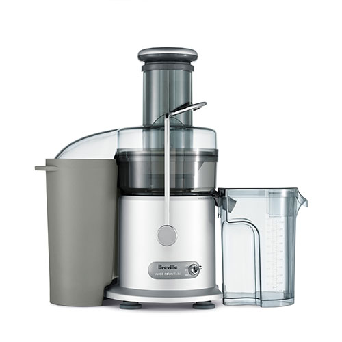 the Juice Fountain® Max Juicers in Silver easy clean design
