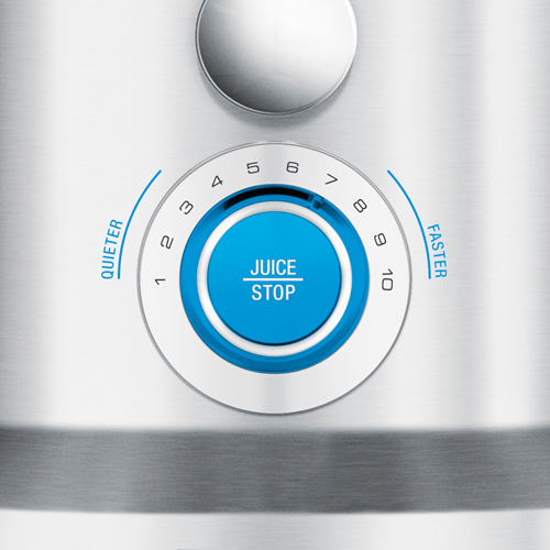 the Cold Fountain Pro™ Juicer In Brushed Aluminium variable speed control