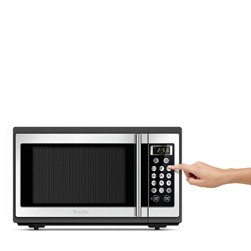the Quick & Easy™ Microwave in Brushed Stainless Steel power level