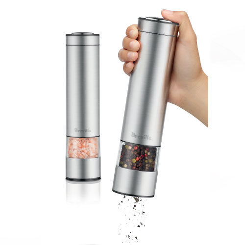 the Salt & Pepper Mills™ miscellaneous in brushed stainless steel adjustable grinding