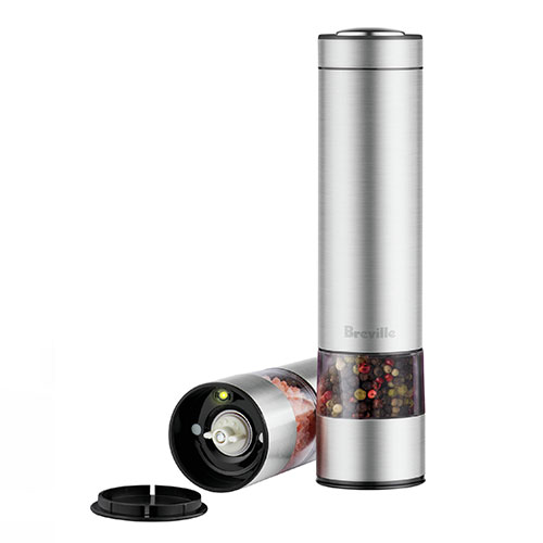the Salt & Pepper Mills™ miscellaneous in brushed stainless steel illumination
