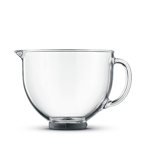 the Scraper Mixer™ Mixers in Silver high clarity glass bowl