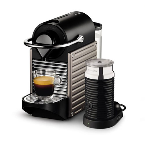 Pixie Bundle Nespresso in Electric Titan intuitive & easy to use