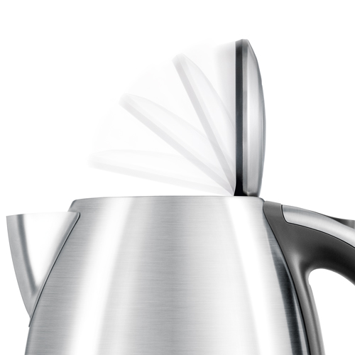 the Soft Open™ Kettle Kettles & Tea in Brushed Stainless Steel soft top™ lid