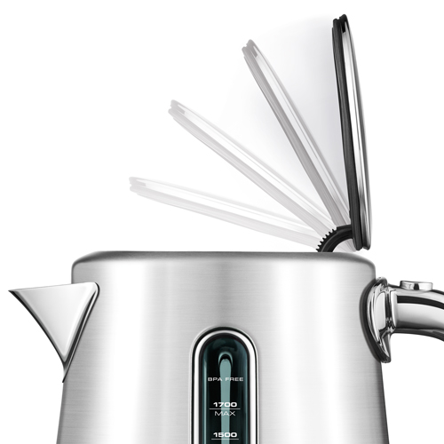 the Soft Top™ Luxe Kettles & Tea in Brushed Stainless Steel soft top™ lid