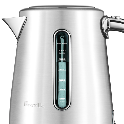 the Soft Top™ Luxe Kettles & Tea in Brushed Stainless Steel dual water windows