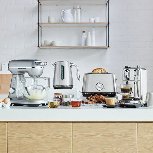 the Soft Top™ Luxe Kettles & Tea in Brushed Stainless Steel luxe collection