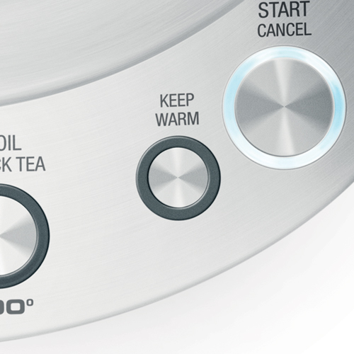 the Smart Kettle™ Tea Machine in Brushed Stainless Steel keep warm