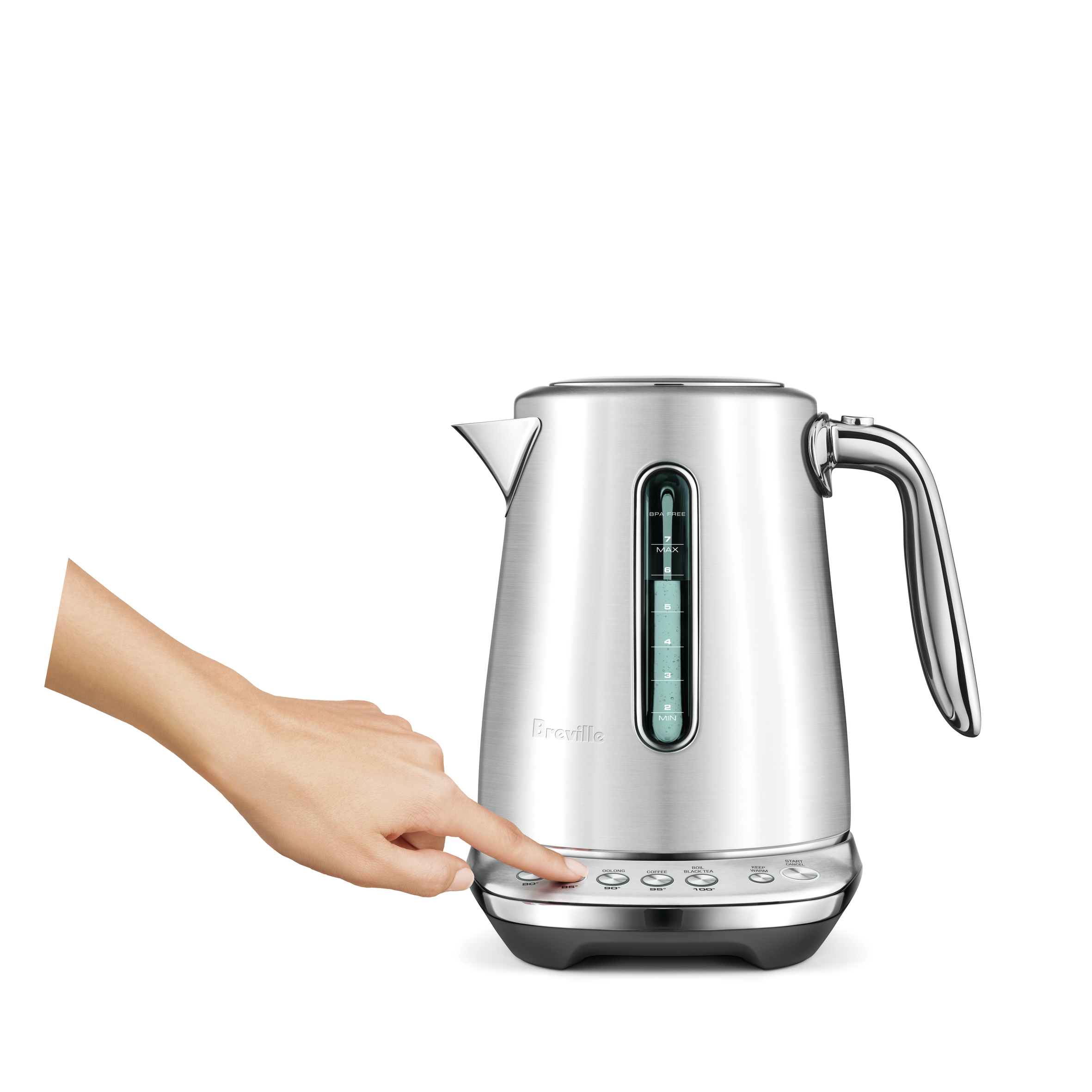 the Smart Kettle™ Luxe tea 5 varietal settings