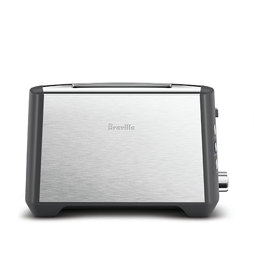 the Bit More™ Plus–2 Slice Toasters in Brushed Stainless Steel slot design