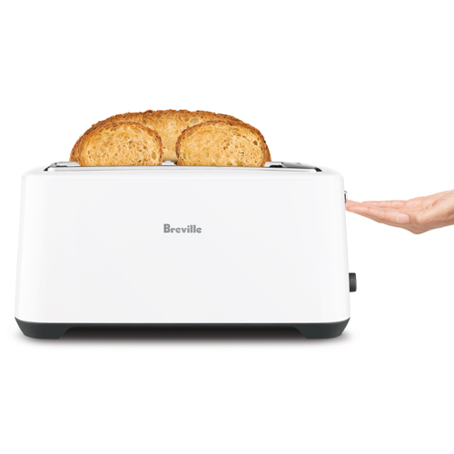 the Lift & Look® Plus 4 Slice Toaster In White lift and look