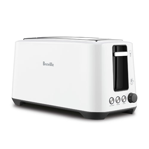 the Lift & Look® Plus 4 Slice Toaster In White browning controls