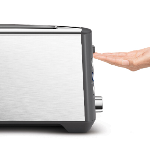 the Bit More™ Plus 4 Slice Toaster In Brushed Stainless Steel lift and look