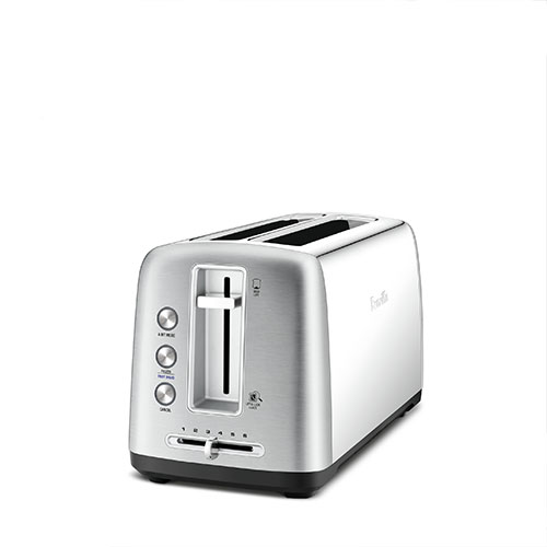 the Toast Control™ Long Toasters in Brushed Stainless Steel wide and deep self centering slots