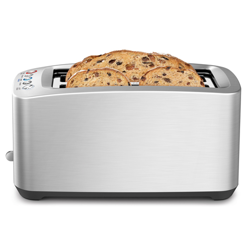 the Smart Toast® 4 Slice Long Slot Toaster In Silver 4 slice capacity