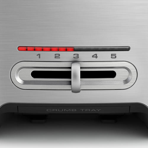 the Smart Toast® 4 Slice Long Slot Toaster In Silver browning control