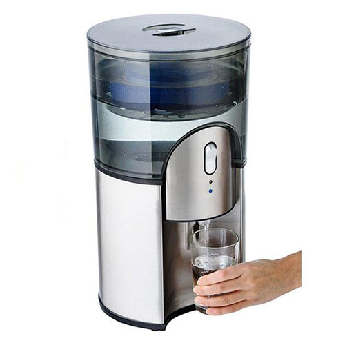 Desktop Water Cooler Stainless Steel Water Filtration in Stainless Steel cools 2 litres per hour at 8C