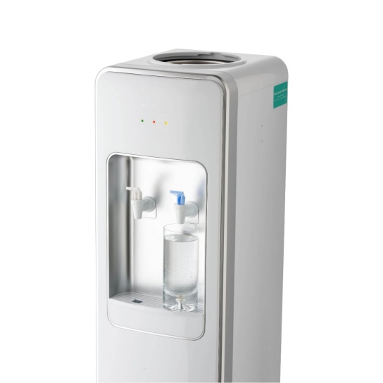 Floor Standing Water Cooler Premium White water filteration in white side view