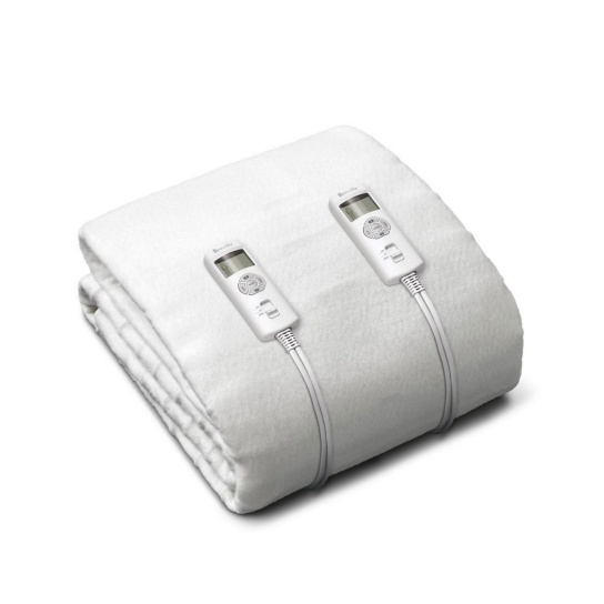 BodyZone® Double Antibacterial Fitted Heated Blanket White
