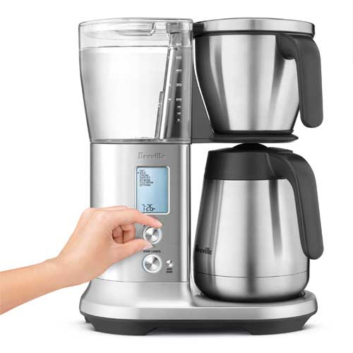 the Breville Precision Brewer™ Thermal coffee machine in brushed stainless steel customized settings