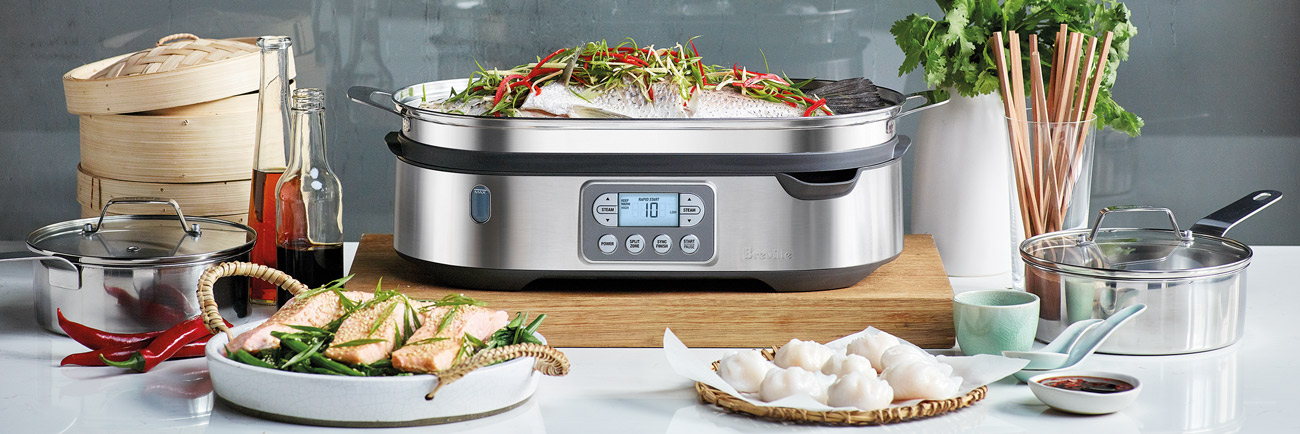 The Steam Zone™ Cookers In Brushed Stainless Steel