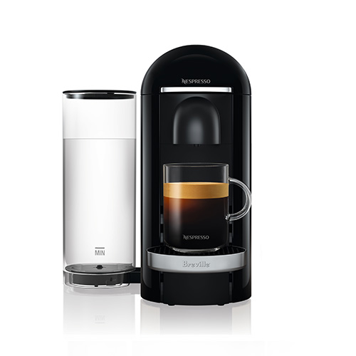 VertuoPlus Deluxe Bundle Nespresso Machine In Black capsule recognition technology