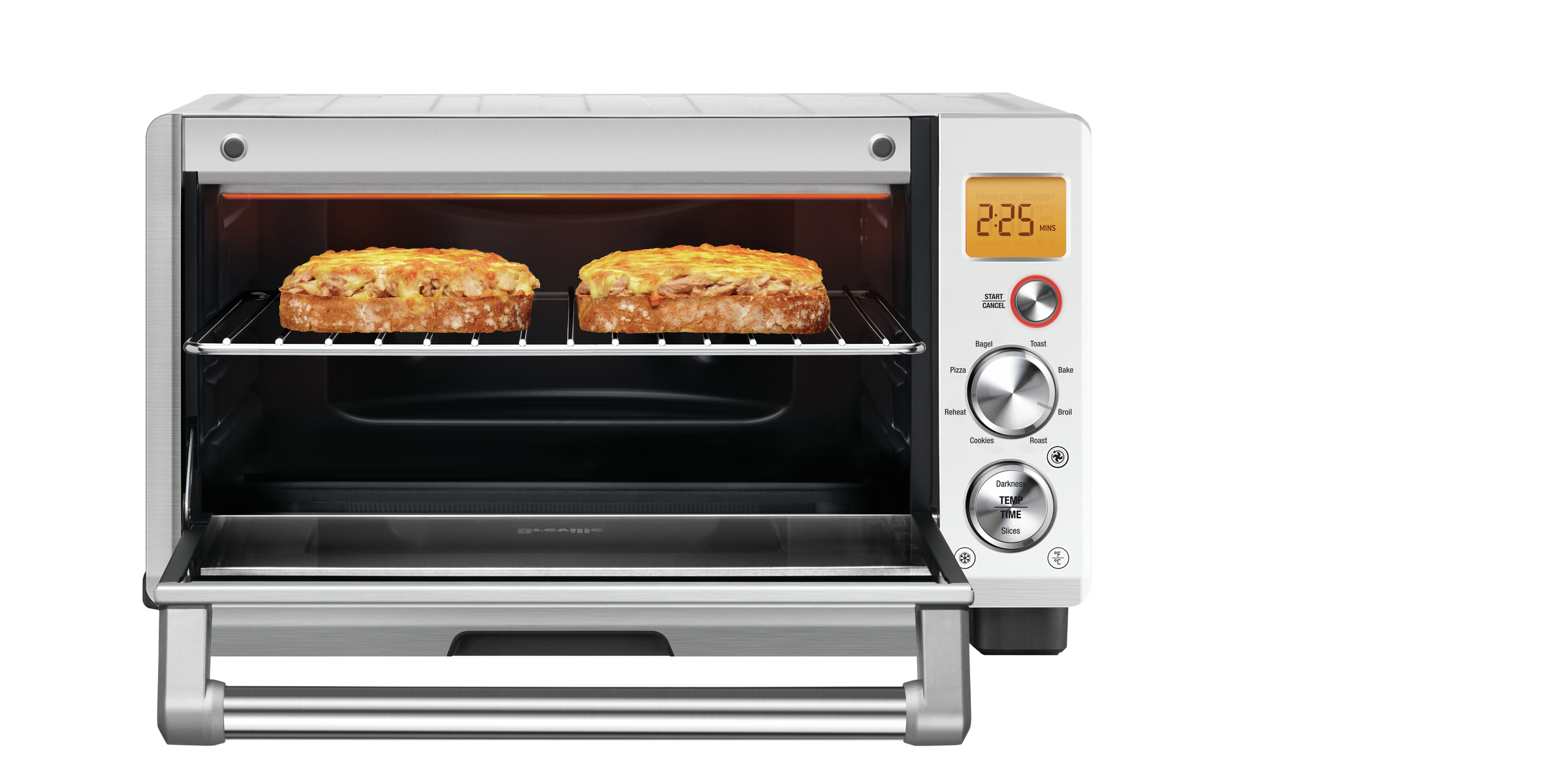 the Smart Oven® Compact Convection Oven in Brushed Stainless Steel compact capacity