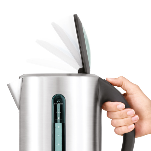 the Smart Kettle™ Tea Machine in Brushed Stainless Steel soft top® lid
