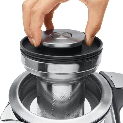 the Breville Smart Tea Infuser® Brushed Stainless Steel with Glass Kettle ease to use and clean
