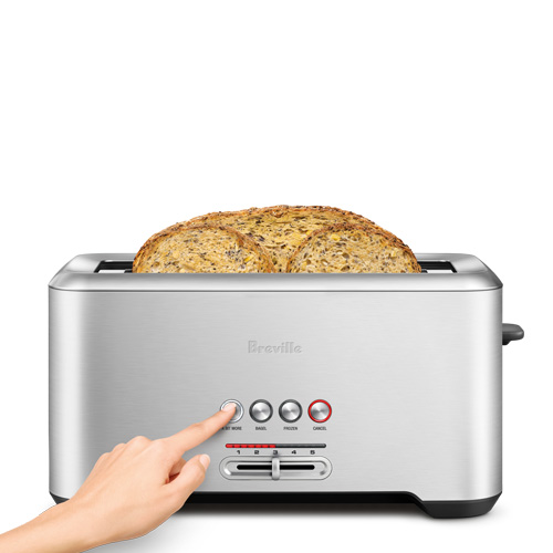 the Lift & Look® Pro 4 Slice Toaster In Brushed Stainless Steel 4-slice capacity