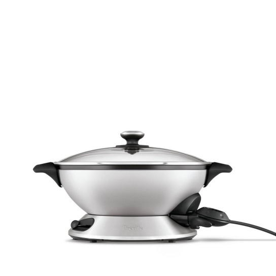 the Hot Wok Pro™ Brushed Stainless Steel