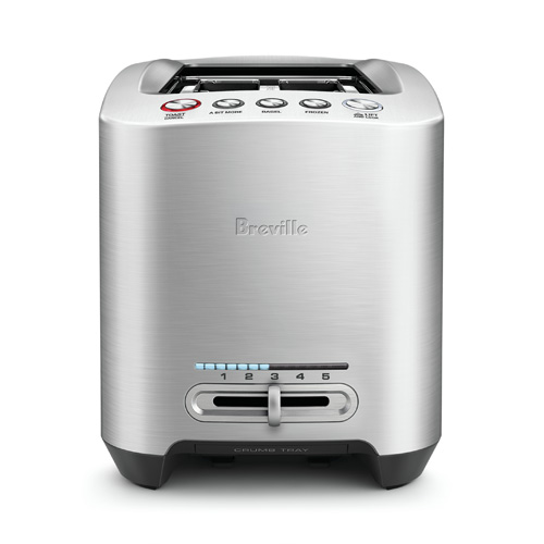 the Smart Toast® 4 Slice Long Slot Toaster In Silver auto features