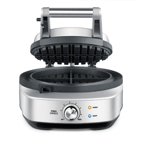 the No-mess Waffle™ waffle makers in brushed stainless steel non stick surface