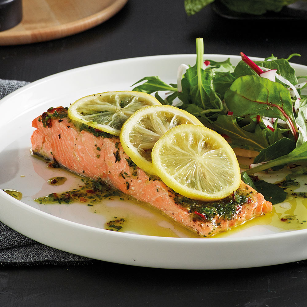 the Wave Range recipes - herbed salmon