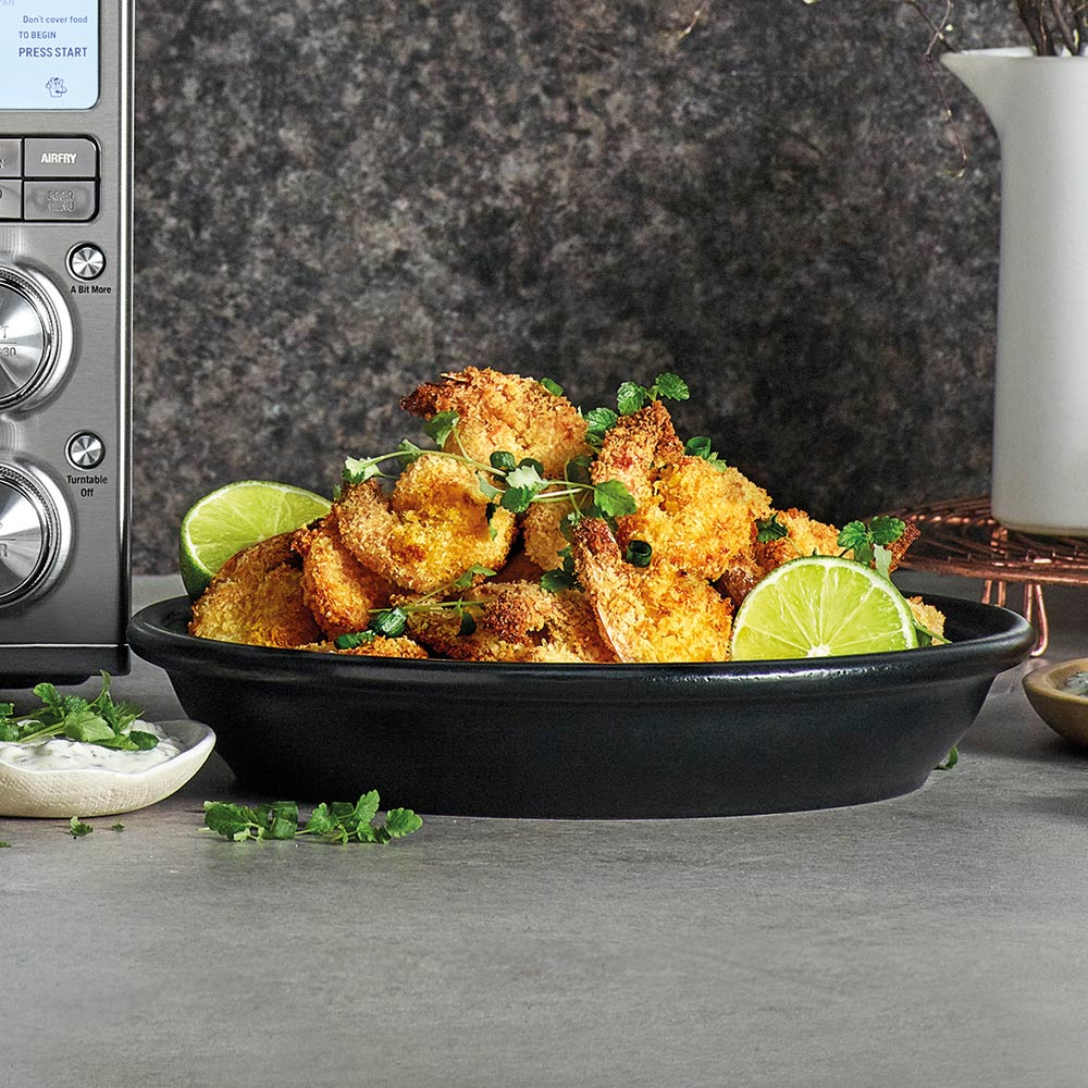 the Wave Range recipes - crispy panko shrimp with tartar sauce