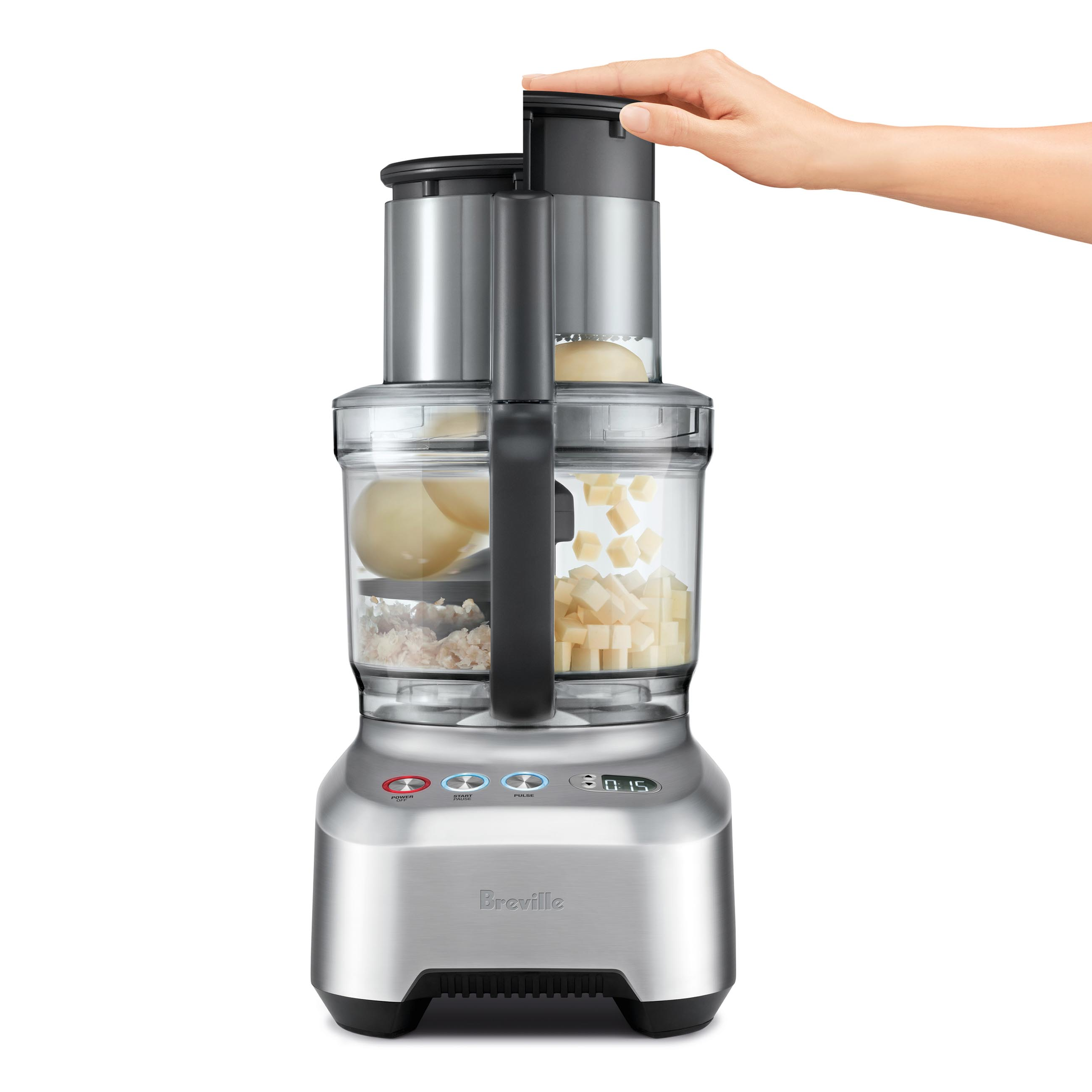 the Kitchen Wizz™ 15 Pro Food Processors in Brushed Aluminium heavy duty induction motor