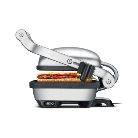 the Perfect Press™ Grills & Sandwich Makers in Brushed Stainless Steel countertop conscious